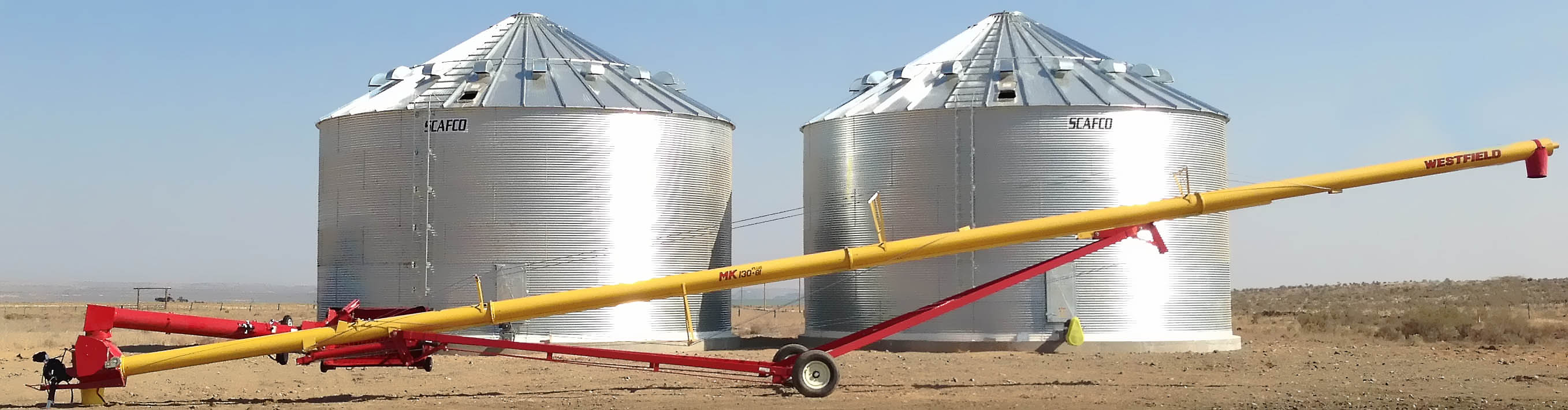 Westfield Grain Auger and Scafco Grain Bin