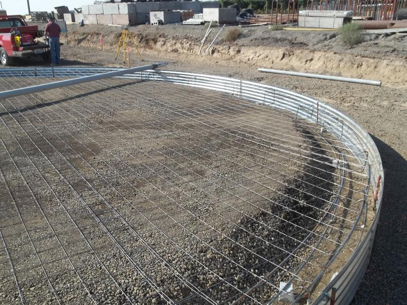 T & S Sales :: Building Scafco Grain Bins from Concrete to